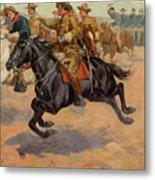 Rough Riders Cavalry Metal Print