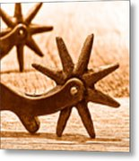 Rough Spurs - Sepia Metal Print