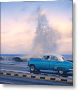 Rough Surf On The Malecon Metal Print