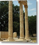 Round Temple At Olympia Metal Print
