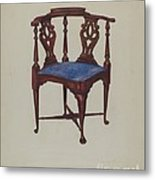 Roundabout Chair Metal Print