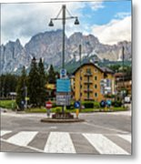 Roundabout Cortina D'ampezzo  Metal Print