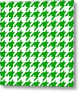 Rounded Houndstooth White Background 09-p0123 Metal Print
