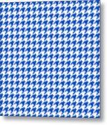 Rounded Houndstooth White Background 18-p0123 Metal Print