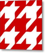 Rounded Houndstooth White Pattern 02-p0123 Metal Print