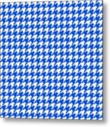 Rounded Houndstooth White Pattern 18-p0123 Metal Print