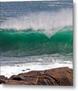 Roundstone Turquoise Wave Ireland Metal Print