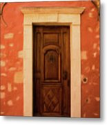 Roussillon Red And Door Metal Print