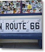 Route 66 Bench Metal Print