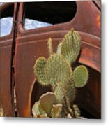 Route 66 Cactus Metal Print by Mike McGlothlen