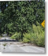 Route 66  End Of The Road Metal Print