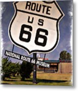 Route 66 Museum - Impressions Metal Print