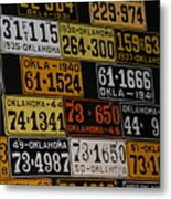 Route 66 Oklahoma Car Tags Metal Print