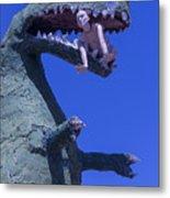 Route 66 Roadside Dinosaur Metal Print