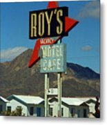 Route 66 - Roy's Of Amboy California 2 Metal Print