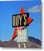 Route 66 - Roy's Of Amboy California Metal Print