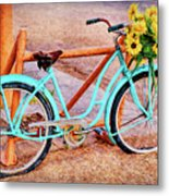 Route 66 Vintage Bicycle Metal Print