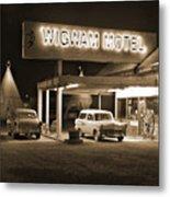 Route 66 - Wigwam Motel Metal Print