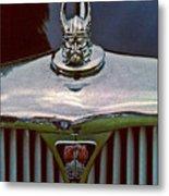 Rover Radiator And Hood Ornament Metal Print