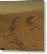 Roving Across Mars 2 - Mars Light Metal Print