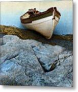 Row Boat On Shore Metal Print