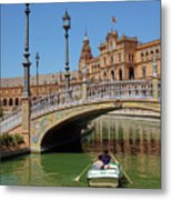 Row Boating In Seville Metal Print