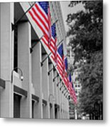 Row Of Flags Metal Print