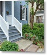 Row Of Historic Row Houses Metal Print
