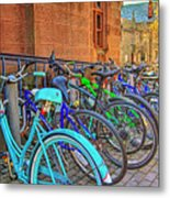 Row Of Student Bikes At Princeton University Nj Metal Print