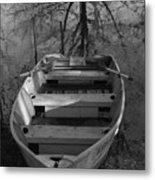 Rowboat And Tree Metal Print