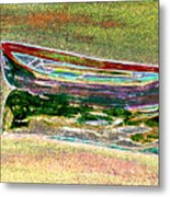 Rowboat Fluorescence 1 Metal Print