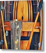 Rowboat Standing Time Metal Print