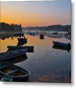 Rowboats At Rest Metal Print