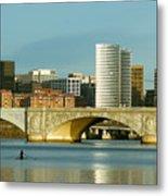 Rower On The Potomac River I Metal Print