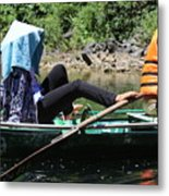 Rowing Boat With Legs, Tam Coc  Metal Print