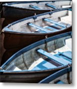 Rowing Boats Metal Print