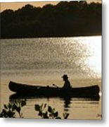 Rowing On The Lake Metal Print