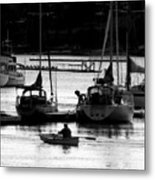 Rowing To Shore Metal Print