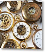 Rows Of Pocket Watches Metal Print by Garry Gay