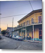 Royal And Touro Streets Sunset In The Marigny Metal Print