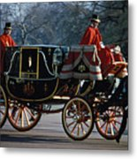 Royal Carriage In London Metal Print