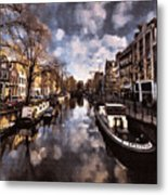 Royal Dutch Canals Metal Print