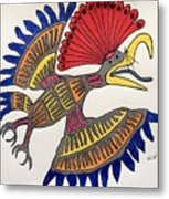 Royal Flycatcher- Mayan 2 Metal Print