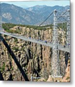 Royal Gorge Bridge In Summer Metal Print