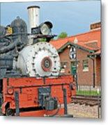Royal Gorge Train And Depot Metal Print