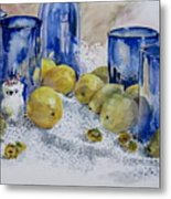 Royal Lemons Metal Print