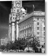 Royal Liver Buildings_beatle Country Metal Print
