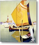 Royal Mail Atlantis Autumn Cruises Vintage Travel Poster Metal Print