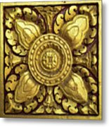 Royal Palace Gilded Door 04 Metal Print