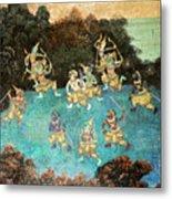 Royal Palace Ramayana 16 Metal Print